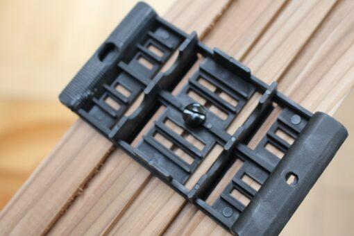 Support PVC intégré au bardage
