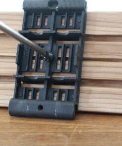 Support PVC amovible sur la longueur des lames