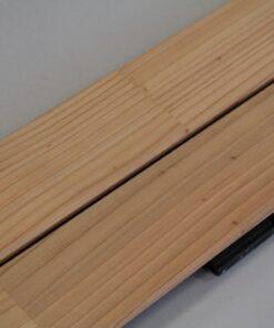 Lames de terrasse bois de cedre coloris ecume