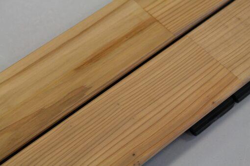 Lames de terrasse en bois de cèdre coloris naturel