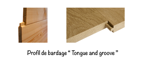 Profil Tongue and groove