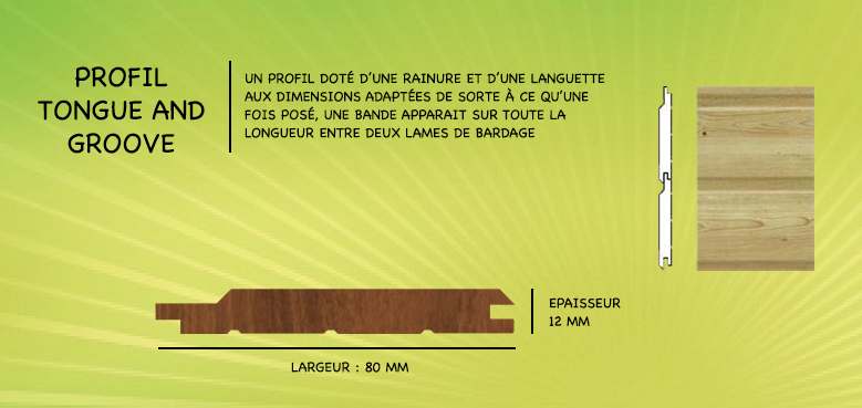 bardage red cedar profil tongue and groove saint louis