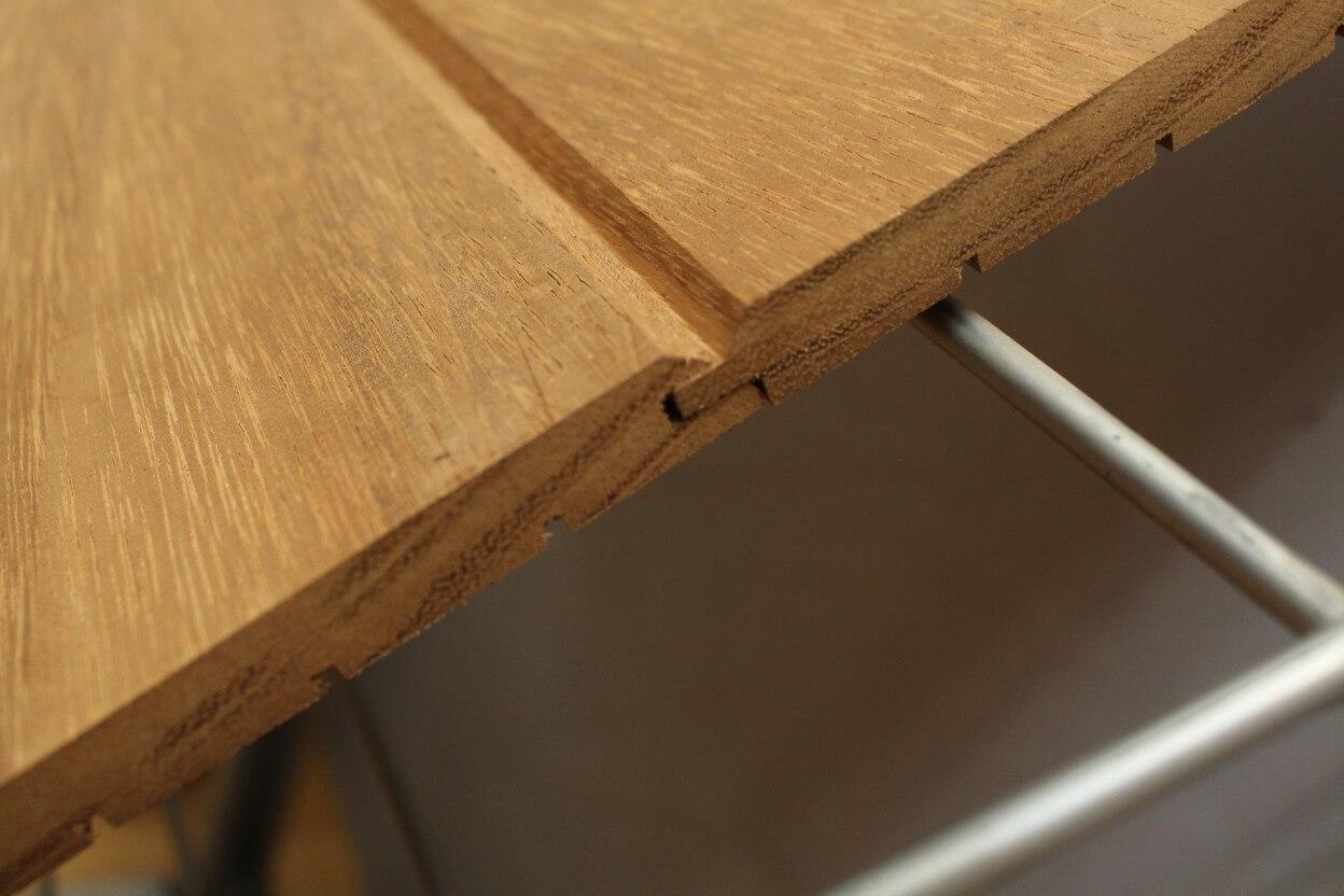 Lames De Bardage Bois Pas Cher bardage bois exterieur en iroko - 15 x 145 mm
